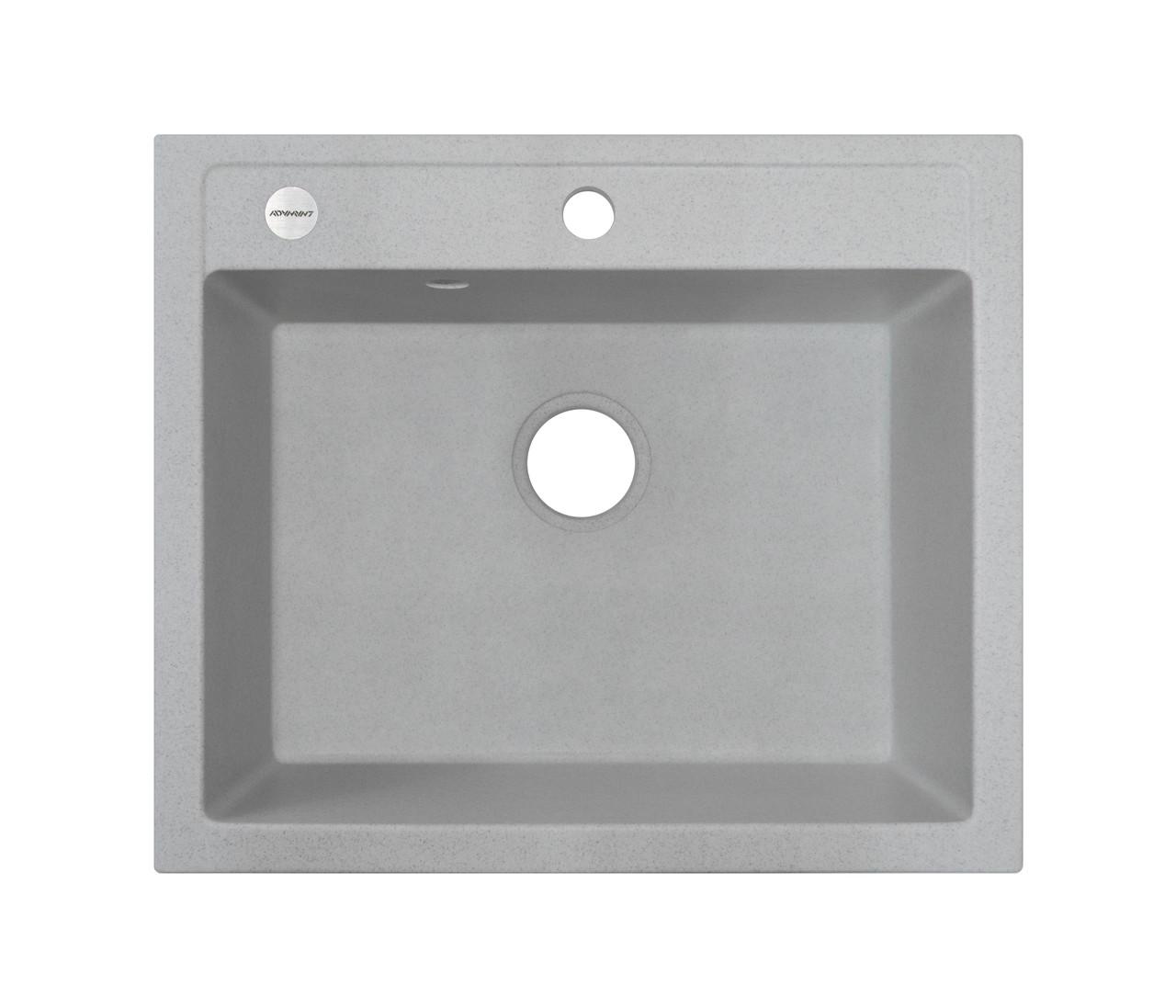 Мойка кухонная серая гранит 59*50 см ADAMANT PRIZMA светлый серый