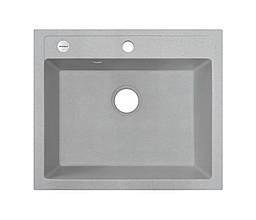 Мийка кухонна сіра граніт 59*50 см ADAMANT PRIZMA світлий сірий