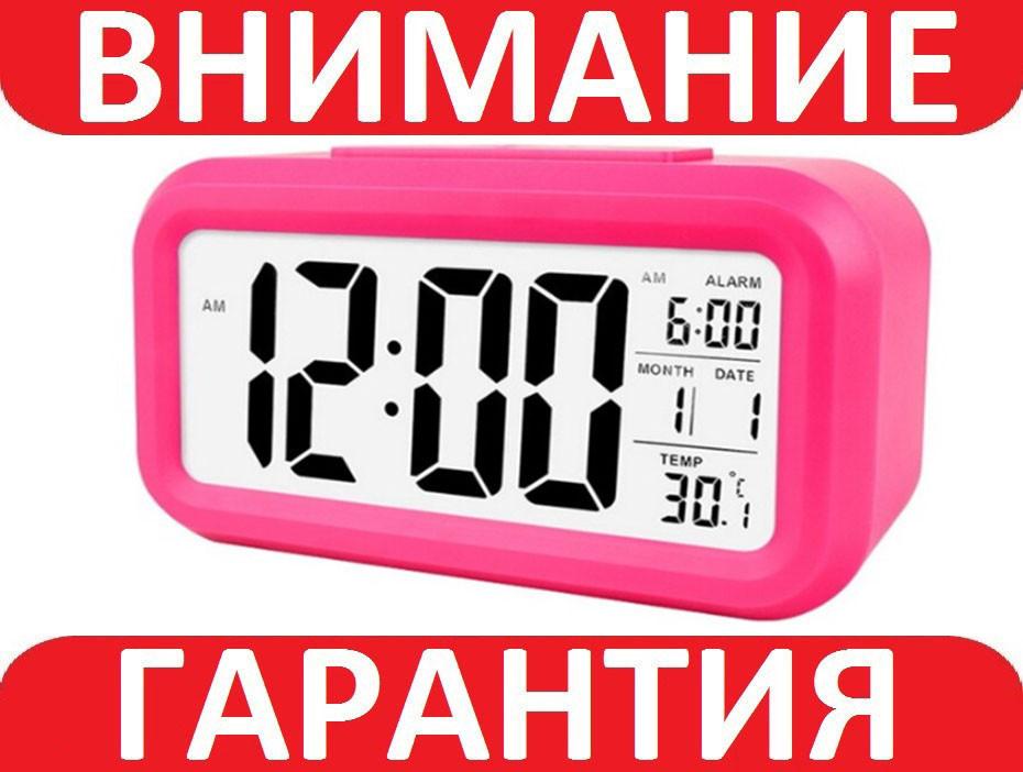 Цифровые часы Будильник Розовые