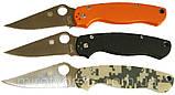 Нож Spyderco Para-Military 2 оранж. реплика +паракорд, фото 5