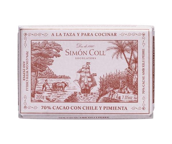 Черный шоколад SIMON COLL 60% с перцем чили 200 г