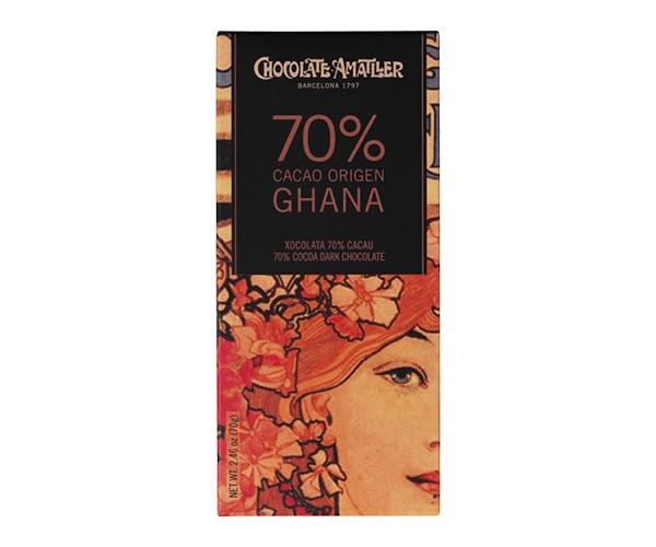 Черный шоколад Amatller 70% Ghana 70 г