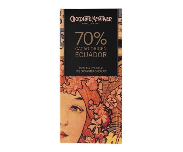 Черный шоколад Amatller 70% Ecuador 70 г