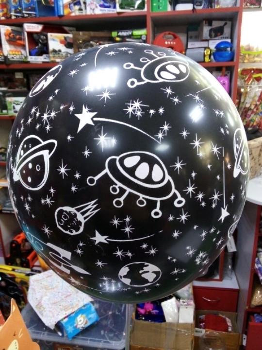 Воздушный шарик с рисунком звезды 1шт