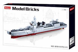 Конструктор SLUBAN M38-B0700 военный корабль