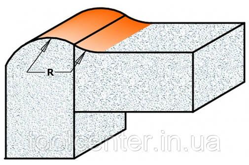 Фреза СМТ R8 25.4x12.7x8 антиперелив для искусственного камня, фото 2