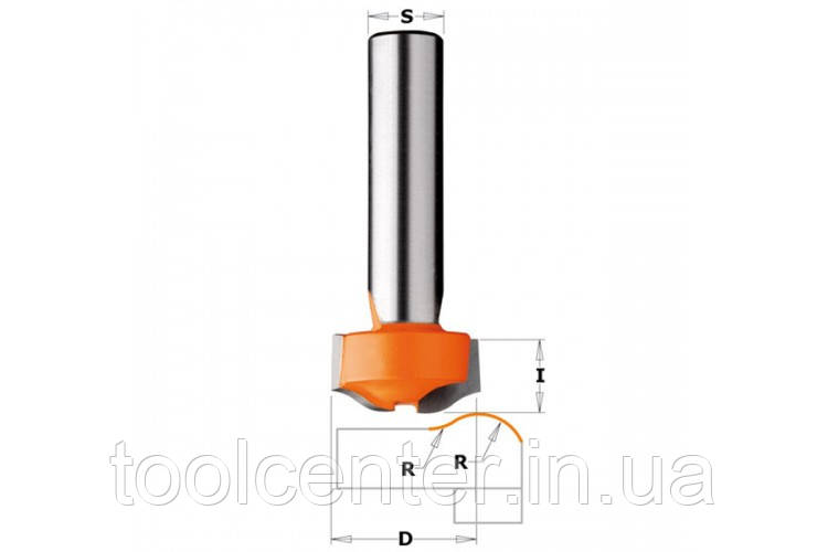 Фреза СМТ R8 25.4x12.7x8 антиперелив для искусственного камня