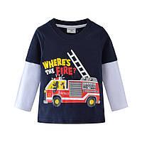 Реглан для мальчика Пожарная машина на 2-7 лет