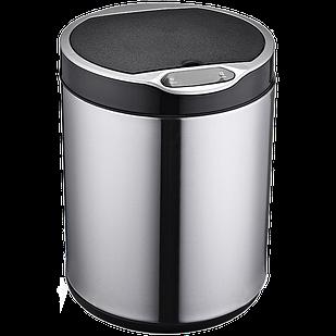 Сенсорное мусорное ведро JAH 9 л круглое серебряный металлик с внутренним ведром