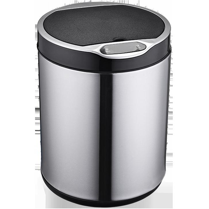 Сенсорное мусорное ведро JAH 6 л круглое серебряный металлик с внутренним ведром