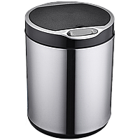 Сенсорное мусорное ведро JAH 6 л круглое серебро с внутренним ведром