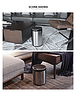 Сенсорное мусорное ведро JAH 6 л круглое серебряный металлик с внутренним ведром, фото 6