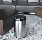 Сенсорное мусорное ведро JAH 6 л круглое серебряный металлик с внутренним ведром, фото 7