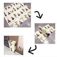 Коврик детский большого размера Теплый детский коврик Килимок дитячий Складной детский коврик Вигвамы