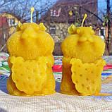 """Восковая свеча """"Хомяк"""" из натурального пчелиного воска, фото 3"""
