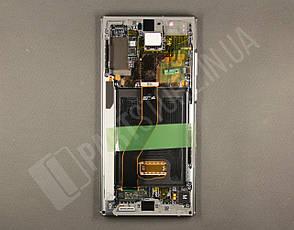Дисплей Samsung n975 silver/aura glow note 10+ (GH82-20838C) сервисный оригинал в сборе с рамкой, фото 2