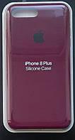 Чехол Silicone Case IPHONE 7Plus/8 Plus (Marsala)+ Стекло !!!, фото 1