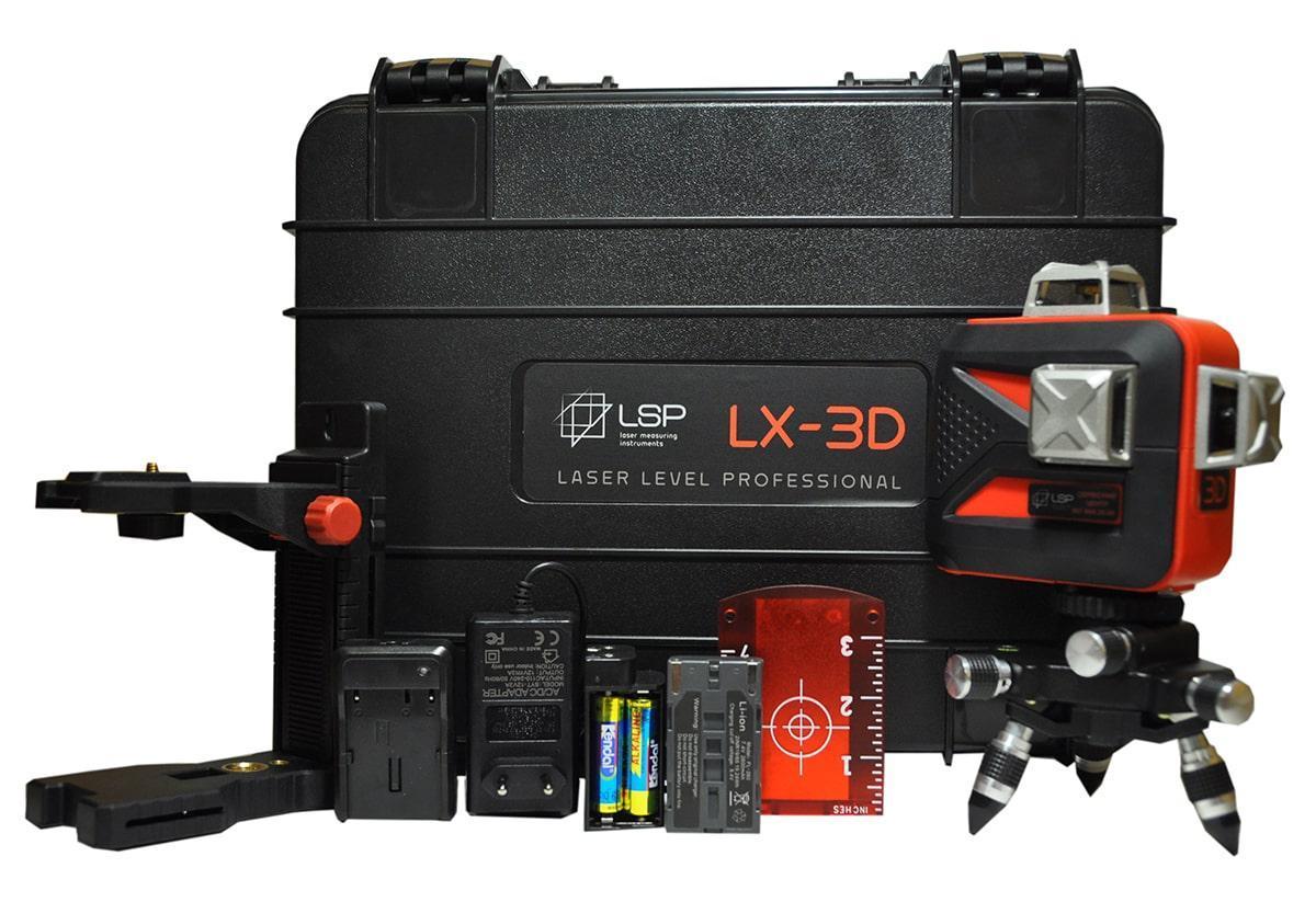 Лазерный уровень (нивелир) LSP LX-3D MAX Laser Pro 2 ГОДА гарантия!
