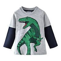 Реглан для мальчика Зеленый Динозавр