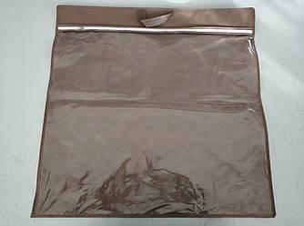 Упаковка для подушки 70х70 см усиленная ручка ПВХ 90 Коричневый