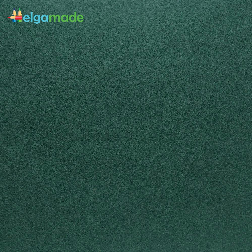 Фетр американский ВЕЧНОЗЕЛЕНЫЙ, 23x31 см, 1.3 мм, полушерстяной мягкий
