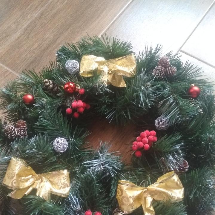 *60 см !!Венок  новогодний декор на двери диаметр 50 см