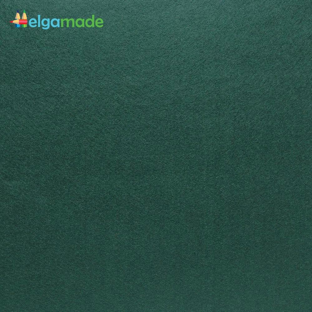 Фетр американський ВІЧНОЗЕЛЕНИЙ, 31x46 см, 1.3 мм, напіввовняної м'який