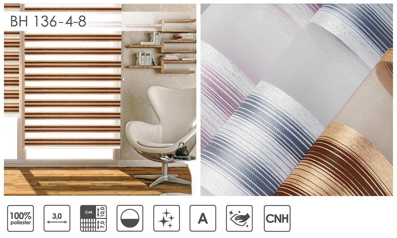 Рулонні штори День-Ніч BH 136 (3 варіанта кольору)