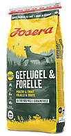 Сухой беззерновой корм Josera Geflugel and Forelle для собак с птицей и форелью 15 кг