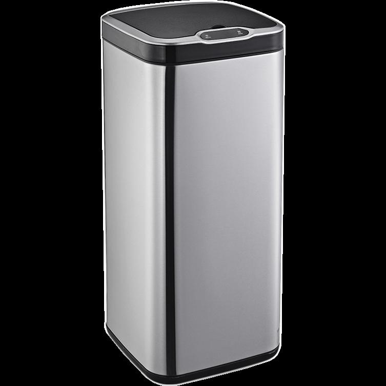 Сенсорное мусорное ведро JAH 30 л квадратное металлик без внутреннего ведра