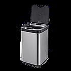 Сенсорное мусорное ведро JAH 30 л квадратное металлик без внутреннего ведра, фото 7