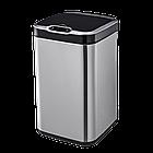 Сенсорное мусорное ведро JAH 30 л квадратное металлик без внутреннего ведра, фото 8
