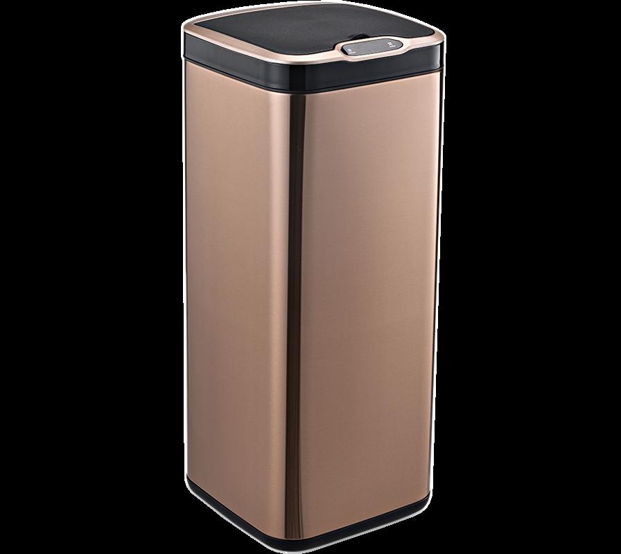 Сенсорное мусорное ведро JAH 30 л квадратное розовое золото без внутреннего ведра