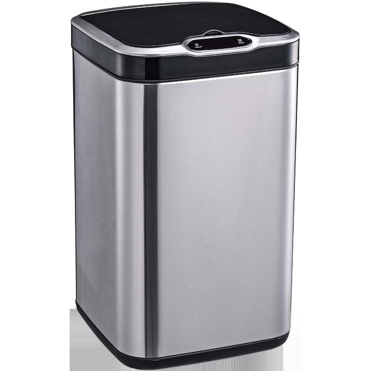 Сенсорное мусорное ведро JAH 20 л квадратное серебряный металлик без внутреннего ведра