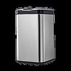 Сенсорное мусорное ведро JAH 20 л квадратное серебряный металлик без внутреннего ведра, фото 8