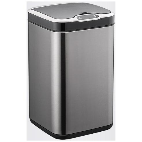 Сенсорное мусорное ведро JAH 15 л квадратное черный металлик без внутреннего ведра