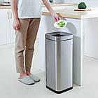 Ведро для мусора JAH 15 л серебряный металлик без крышки и внутреннего ведра, фото 9