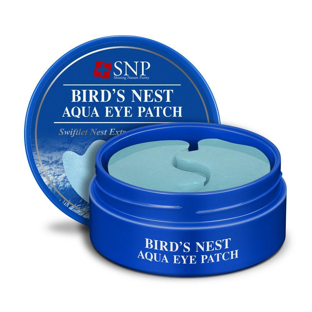 Омолаживающие патчи с ласточкиным гнездом SNP Bird's Nest Aqua Eye Patch Гидрогелевые