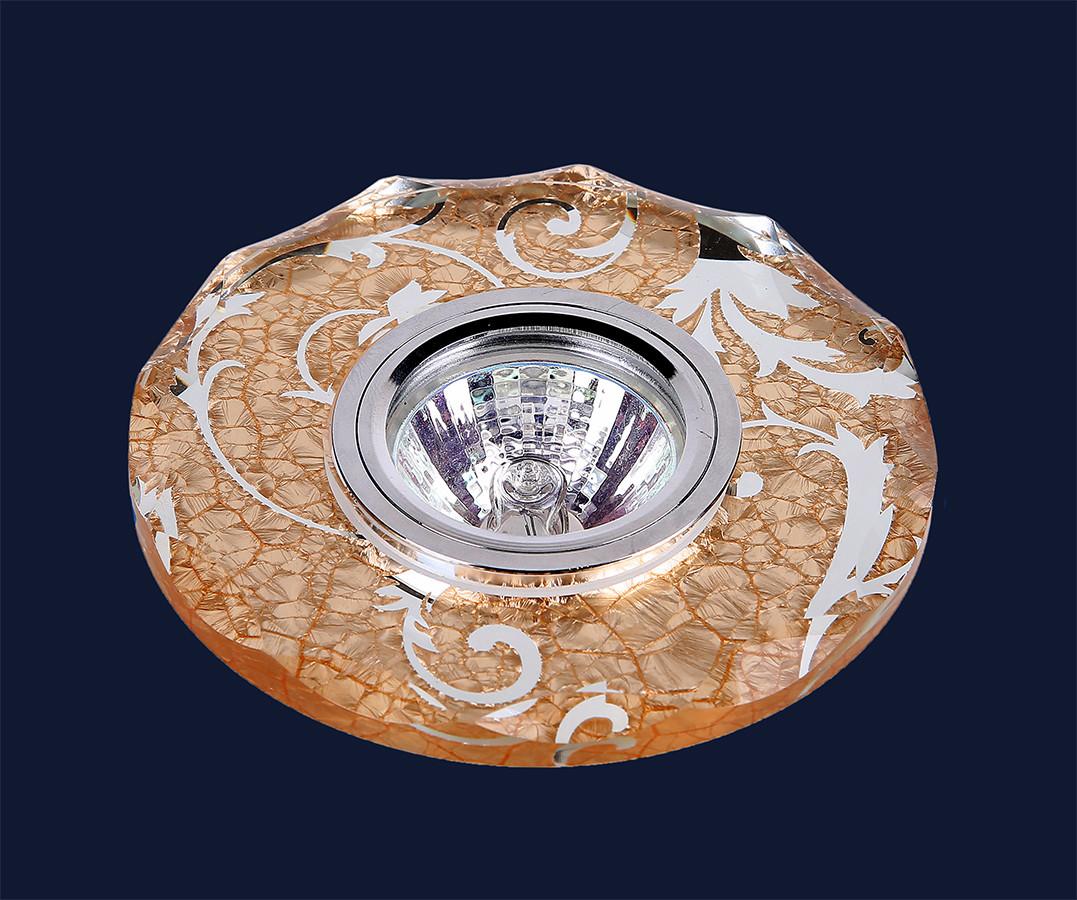 Врезной точечный светильник из стекла под сменную лампу мр 16 &716B063