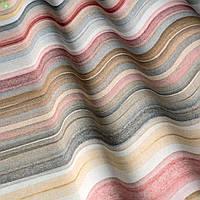 Декоративная ткань в разноцветную полоску для покрывала в детскую 400384v1
