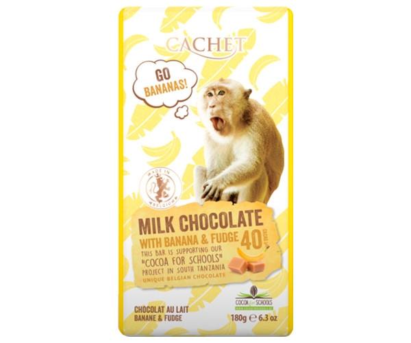 Молочный шоколад Cachet Tanzania Milk 40% Banana-Fudge 180 г