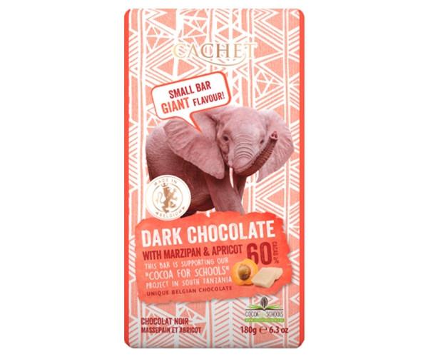 Черный шоколад Cachet Tanzania Dark 40% Marzipan-Apricot 180 г