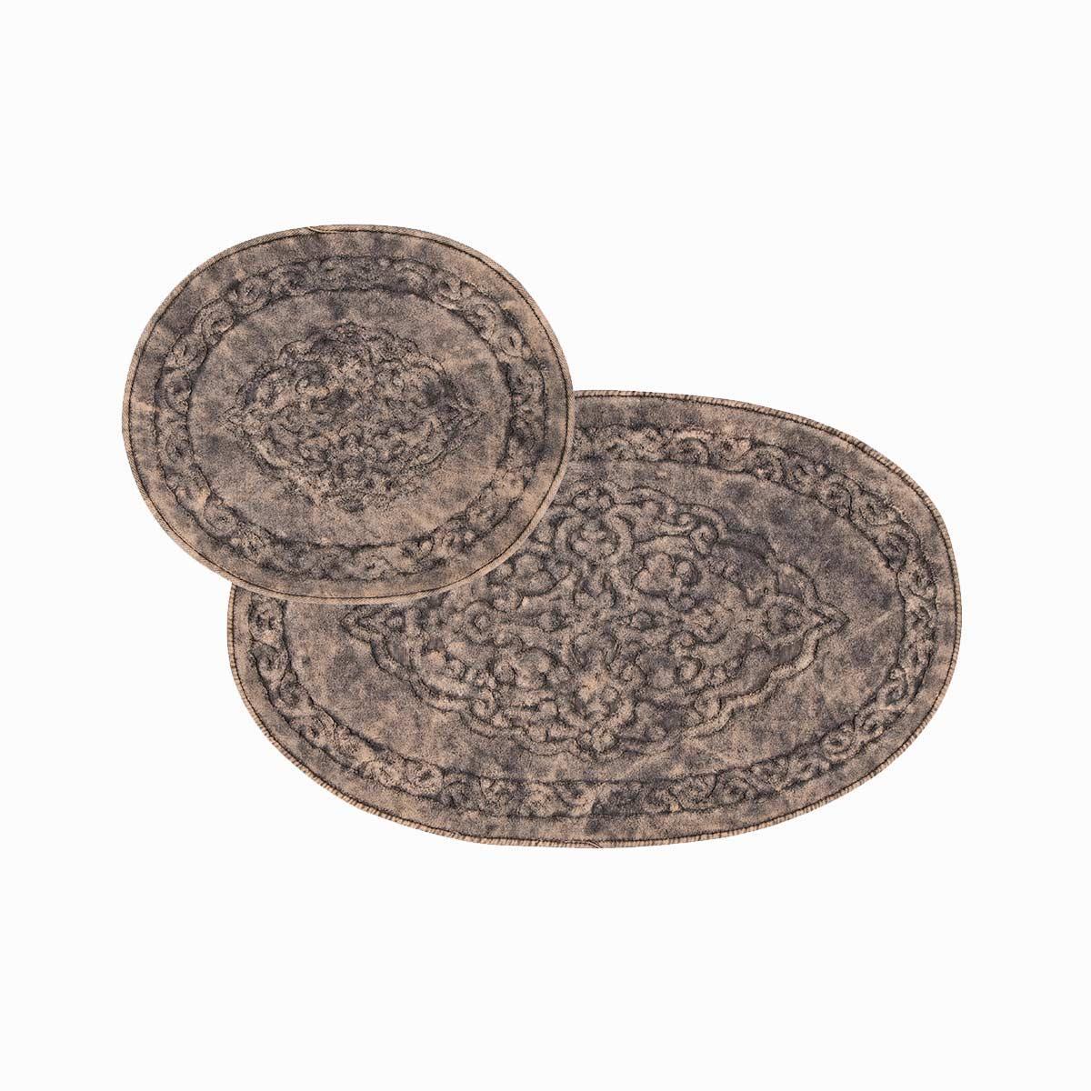 Набір килимків 2 предмета коричневі Antik Arya AR-TR1006873-brown