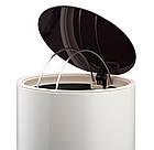 Ведро для мусора с педалью Nordic Style JAH 10 л круглое серебряное без внутреннего ведра, фото 7