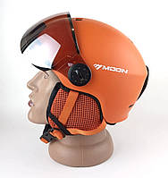 Шлем горнолыжный MOON с визором (ШГ-1019)