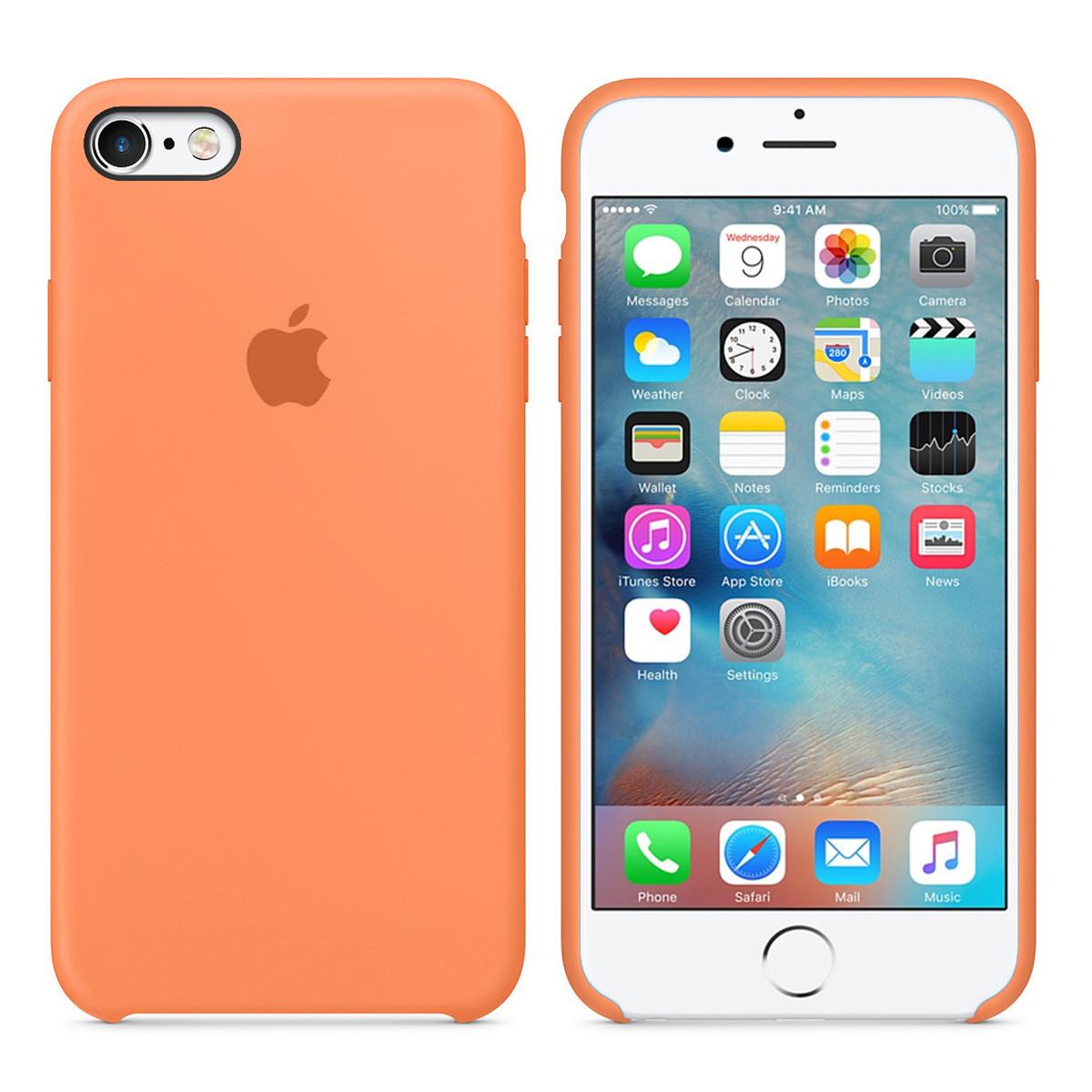 Силиконовый чехол для Apple iPhone 6 / 6S (4.7 Дюйма) Silicone case (Папайя)