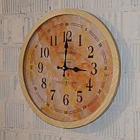 Настінний годинник дерев'яний (40 см.), фото 1