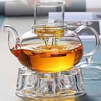 Термостойкое стекло Чайник с фильтром Пузырьковый чайник Боросиликатное стекло Цветочный чайник Стеклянный горшок-1TopShop