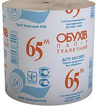 Бумага туалетная 1 слой Обухов 65 м., серая