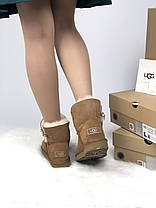 Угги женские в стиле UGG Australia Mini Bailey Button Brown, фото 3